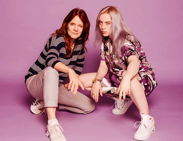 Image of Billie Eilish with her mother Maggie Baird