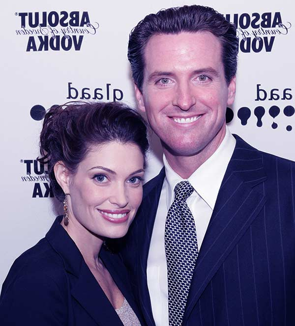 Image of Gavin Newsom with his ex-wife Kimberly Guilfoyle