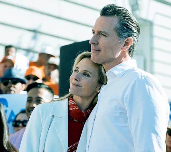 Image of Gavin Newsom with his wife Jennifer Lynn Siebel