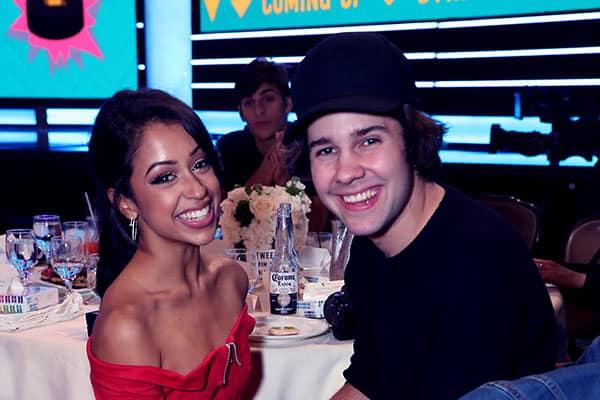 Image of David Dobrik with his ex-girlfriend Liza Koshy
