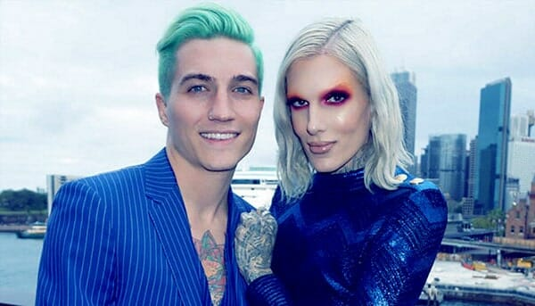 Image of Jeffree Star with partner Nathan Schwandt