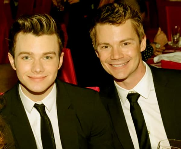 Image of Chris Colfer with his partner Will Sherrod